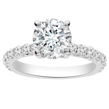 3/4ct tw NewBorn Lab Created Diamond Engagement Ring Setting in 14K White Gold