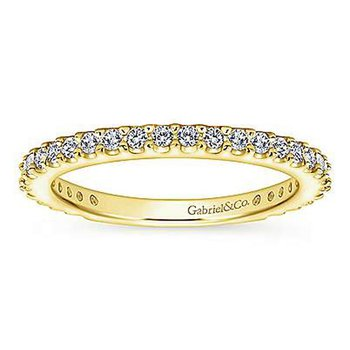 3/8ct tw Diamond Wedding Ring in 14K Yellow Gold