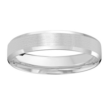 4mm Wedding ring in 14K White Gold