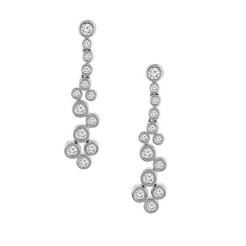 1/2ct tw Diamond Fashion Earrings in 14K White Gold