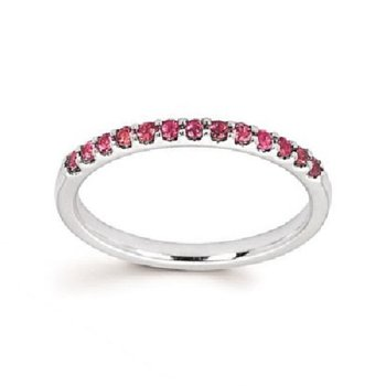 October Birthstone Ring in 14K White Gold