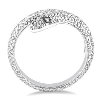 .05ct tw Diamond Snake Fashion Ring in Sterling Silver