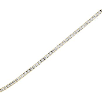 2ct tw NewBorn Lab Created Diamond Tennis Bracelet in 14KYellow Gold