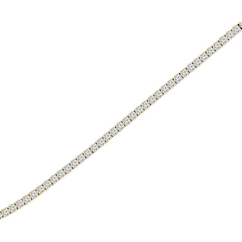 2ct tw NewBorn Lab Created Diamond Tennis Bracelet in 14KYellow Gold