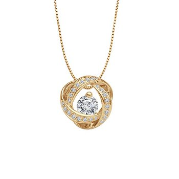 1/3ct tw Diamond Time & Eternity Necklace in 14K Yellow Gold