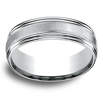 7.5mm Wedding Ring in 14K White Gold
