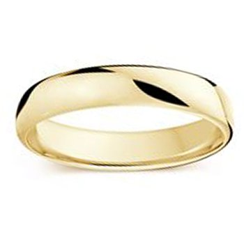 4.5mm Wedding Ring in 14K Yellow Gold