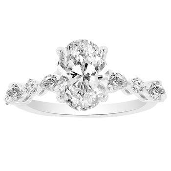 2 1/3ct tw NewBorn Lab Created Diamond Engagement Ring in 14K White Gold