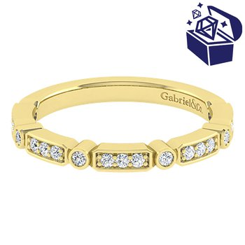 Treasure Hunt Value 1/5ct tw Diamond Wedding Ring in 14K Yellow Gold
