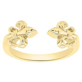 Fleur De Lis Ring in 14K Yellow Gold