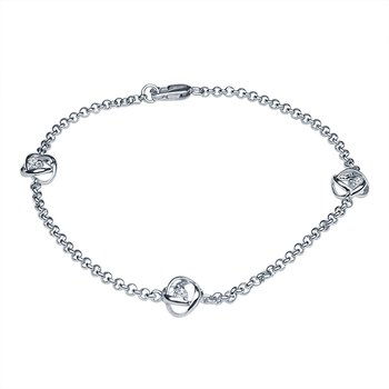 1/8ct tw Diamond Time and Eternity Bracelet in Sterling Silver