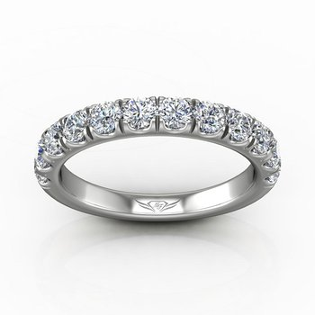 1 1/3ct tw Diamond Wedding Ring in 14K White Gold