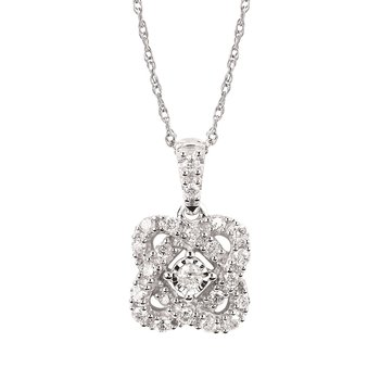 1/4ct tw Diamond Fashion Necklace in 14K White Gold