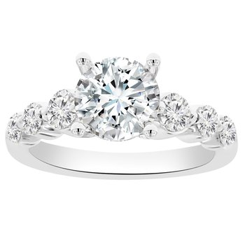 3/4ct tw Diamond Engagement Ring Setting in 14K White Gold
