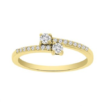 1/4ct tw Diamond Me & You Two Stone Ring in 14K Yellow Gold