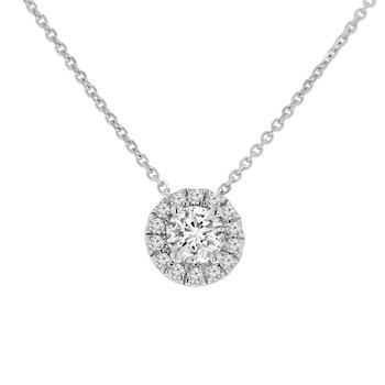 5/8ct tw NewBorn Lab Created Diamond Simply Love Collection Necklace in Sterling Silver