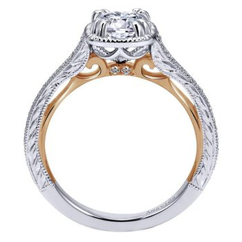 1 1/4ct tw Diamond Engagment Ring in 18K White & Rose Gold