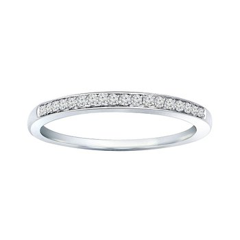 1/10ct tw Diamond Wedding Ring in 10K White Gold