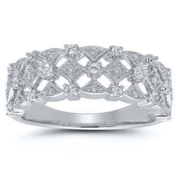 1/4ct tw Diamond Fashion Ring in 10K White Gold