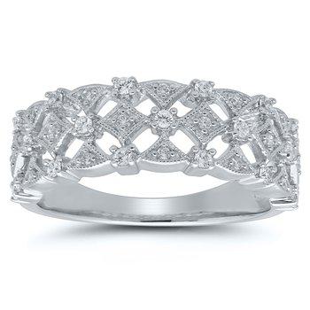 1/4ct tw Diamond Fashion Ring in 10K White Gold