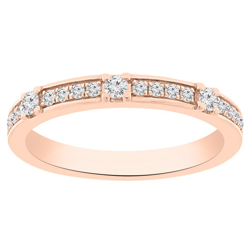 1/4ct tw Diamond Stackable Ring in 14K Rose Gold