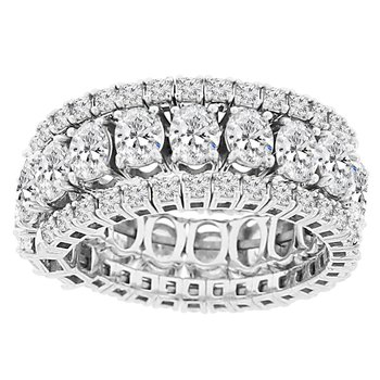 3 1/2ct tw Diamond Flexi Ring in 14K White Gold