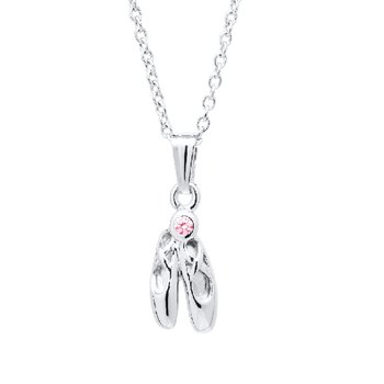 Ballet Slipper Necklace in Sterling Silver