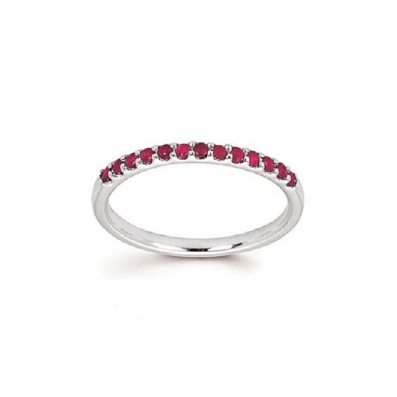 July Birthstone Ring in 14K White Gold