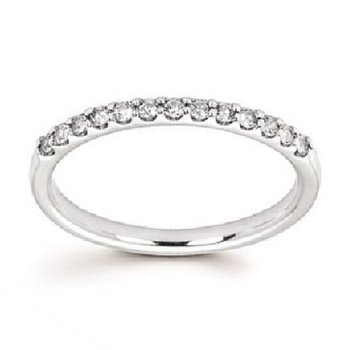 1/5ct tw Diamond April Birthstone Ring in 14K White Gold