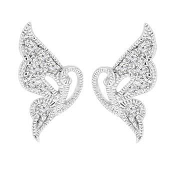 1/10ct tw Diamond Fashion Earrings in 18K White Gold