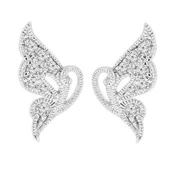 1/10ct tw Diamond Fashion Earrings in 18K White Gold