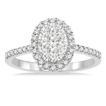 3/4ct tw Diamond Thousand Points of Light Engagement Ring in 14K White Gold