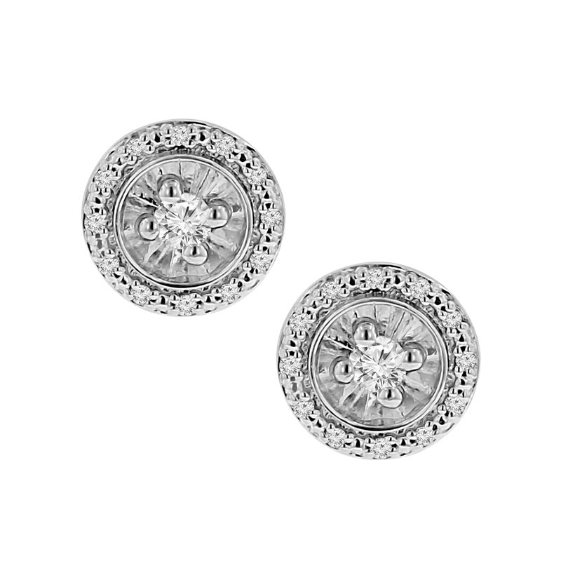 1/5ct tw Diamond Simply Love Collection Stud Earrings in Sterling Silver