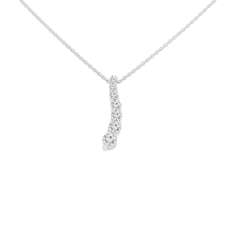 1/2ct tw Diamond Journey Necklace in Sterling Silver