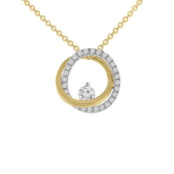 1/4ct tw Diamond Fashion Necklace in 14K Yellow Gold