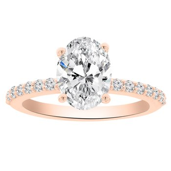 2 1/3ct tw NewBorn Lab Created Diamond Engagement ring in 14K Rose Gold