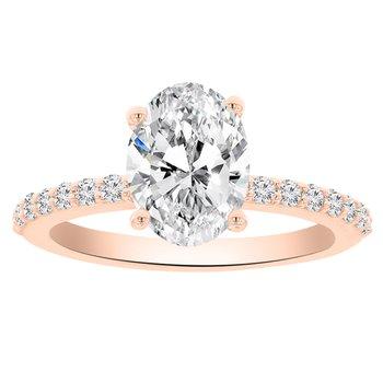2 1/3ct tw NewBorn Lab Created Diamond Engagement ring in 14K Rose Gold