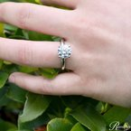 2ct tw NewBorn Lab Created Diamond Solitaire Engagement Ring in 14K White Gold