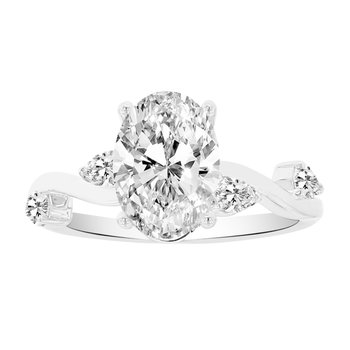 1/3ct tw NewBorn Lab Created Diamond Engagement Ring Setting in 14K White Gold