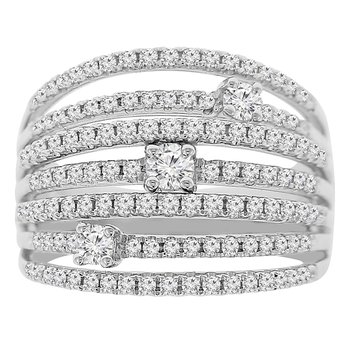 1ct tw Diamond Fashion Ring in 18K White Gold