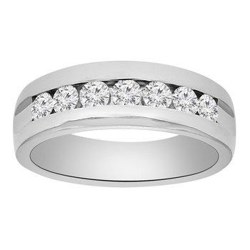 1ct tw Diamond Wedding Ring in 14K White Gold