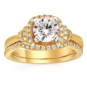 1/10ct tw Diamond Wedding Ring in 14K Yellow Gold