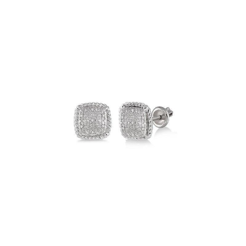 1/20ct tw Diamond Stud Earrings in Sterling Silver