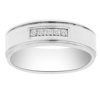 1/14ct tw Diamond Wedding Ring in 14K White Gold