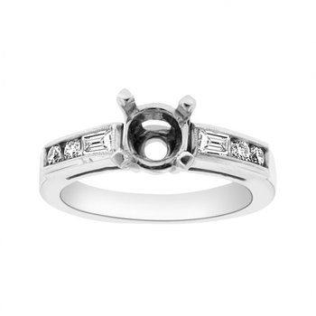 3/8ct tw Diamond Engagement Ring Setting in Platinum
