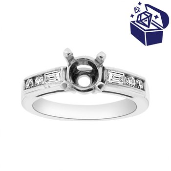 Treasure Hunt Value 3/8ct tw Diamond Engagement Ring Setting in Platinum