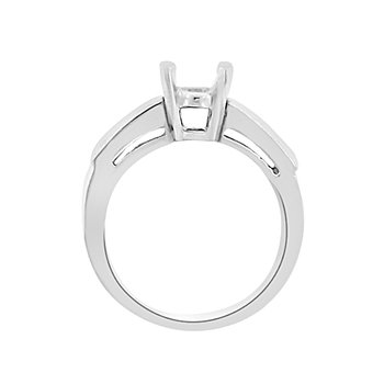3/8ct tw Diamond Engagement Ring Setting in Platinum