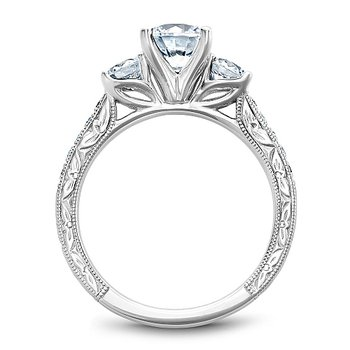 1 5/8ct tw Diamond Three Stone Engagement Ring in 14K White Gold