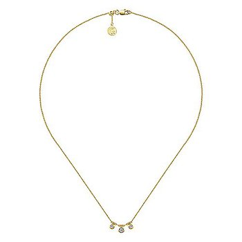 1/5ct tw Diamond Choker Necklace in 14K Yellow Gold