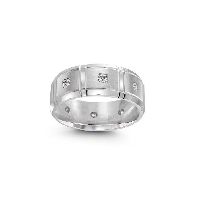 3/8ct tw Diamond Wedding Ring in 10K White Gold